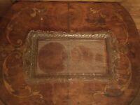 Antique Early American Pattern Glass Bird Pattern Vanity Tray