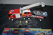 LEGO CITY 7239 POMPIERS COMPLET AVEC NOTICES