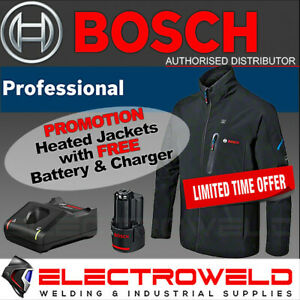 BOSCH 12V Heated Jacket *+ FREE Battery and Charger* USB Electric GHJ 12+18V XA