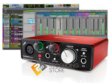 Scarlett Solo G2 USB 2.0 Interface w/ Focusrite Mic Preamp, Pro Tools & Plugins