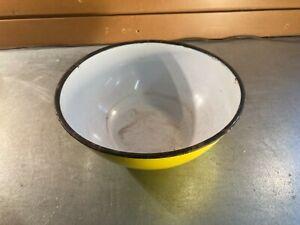 Vintage Metal Japanese Yellow Bowl (DC)
