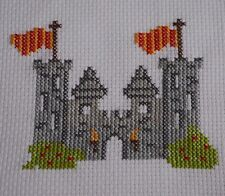 Cross Stitch Kit Chicos Niños Castillo Medieval Caballeros Ideal Para Principiantes