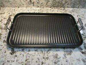 All Clad Double Burner Grill/griddle with nonstick surface double handles