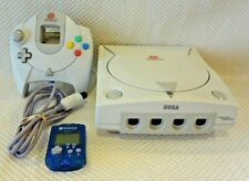 SEGA DREAMCAST VIDEO GAME SYSTEM CONSOLE w/ CONTROLLER & MEMORY CARD HKT-7000