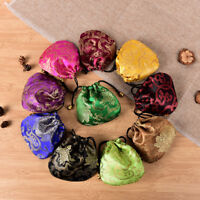 10PCS Chinese Handmade Mix Colors Silk Bag Coin Purse Gift Jewelry Bags Pouch MO