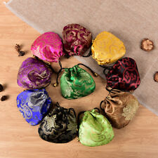10PCS Chinese Mix Colors Silk Bag Coin Handmade Gift Jewelry Bags Purse Pouch.