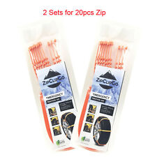 Snow chain ZipClipGo Emergency Traction Aid ice chain for cars truck SUV 2 Sets