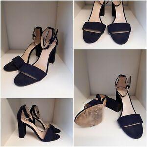 Nine West Navy Ankle Strap Sandals Size 6