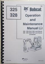Bobcat 325 & 328 opération & service manual réimprimé Peigne Bound