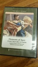 ELEMENTS OF JAZZ: FROM CAKEWALK TO FUSION Bill Messenger Great Courses 8 CDs