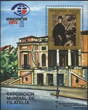 Nicaragua Blocco 157 (completa Edizione) usato 1984 ESPANA ´84, Madrid