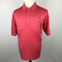 The Masters Polo Golf Shirt Large Pink Coral Cotton Augusta National Golf Shop