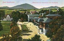 Bad Salzbrunn Elisenhalle mit Wiesenhaus und Hochwald