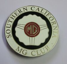 SOUTHERN CALIFORNIA MG CAR CLUB GRILL BADGE EMBLEM LOGOS METAL ENAMLED BADGE POR