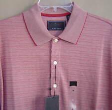NWT $58 GREG NORMAN Men M Polo Golf Shirt TONAL (605) STRIPE Cotton Short Sleeve