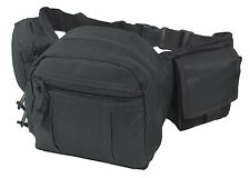 3 Pouch Cintura TATTICO UTILITY PACK NERO-ESERCITO SOFTAIR TELA giorno BUM BAG
