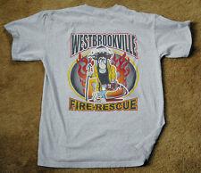 WESTBROOKVILLE FIRE RESCUE Station 34 Battalion 5 grey t shirt size M