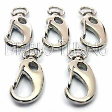 """1-3/4"""" Nickel Swivel Clips / Snap Hook - Qty 5 - Key chain / Wallet / Bracelets"""