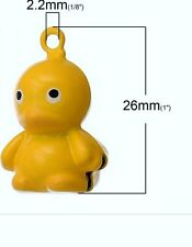 Dog collar bell charm / Is your dog your little ducky / ring attached