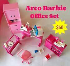 Vintage Arco Barbie Office Furniture Office Desk Accessories Playset