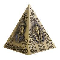 Egyptian Pyramid Metal Figurine Create Craft Desktop Decor Piggy Bank Bronze
