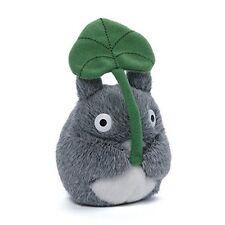 """Totoro With Leaf Bean Bag Plush 4.5"""" New In Hand Studio Ghibli"""