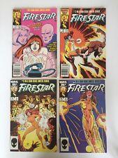 """Firestar #1-4 Mini-Series (Marvel 1986) X-men New Mutants """"NICE"""""""
