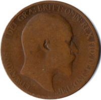 1910 HALF PENNY OF EDWARD VII. / COLLECTIBLE COIN    #WT2596