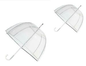 New Totes Classic Clear Dome Bubble Umbrella (Pack of 2)