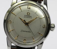 Vintage OMEGA seamaster Stainless/Leather Automatic Cal.354 Men's Watch_344065