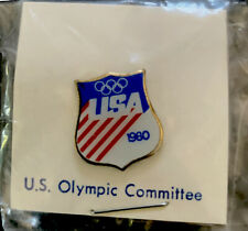 1980 Moscow  Olympic Games USA Enamel Lapel Pin  Which USA Biocircuits Olympic
