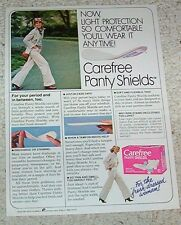 1978 ad page - Carefree panty shields CUTE girl JAYNE MODEAN model PRINT ADVERT