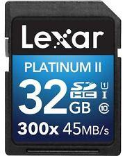 LEXAR SDHC Classe Platinum II 10 (300x) Memory Card - 32GB