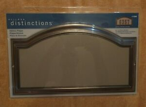 The Hillman Distinctions Age Bronzed Home Address Plaque 843253