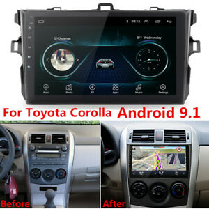 "For Toyota Corolla 06-12 9"" Android 9.1 Radio Stereo GPS MP5 Navi Wifi 1GB+16GB"