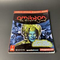 OMIKRON THE NOMAD SOUL PRIMA'S OFFICIAL STRATEGY GUIDE COVERS DREAMCAST & PC VER