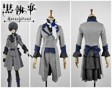 Hot Sell! New Black Butler 3 Ciel Phantomhive Grey Suit Cosplay Costume