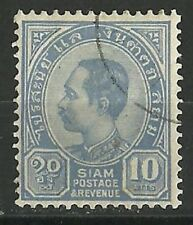 Thailand Stamps: 1899 Sc 84 10a ultra Used.