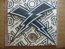 Zeronine LIGHTNING BOLT Stickers ~ BLACK ~ Old School BMX NOS New Old Stock