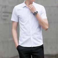 Men Luxury Slim Fit Business Dress Shirts Long Sleeve Formal Casual T-shirt Tops