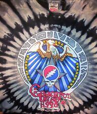 Rare Grateful Dead 25 Years Dead 1990tour T Shirt Vintage Syf Black tie dye Xl