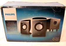 New Opened Philips SPA1330/37 2.1 Multimedia Computer Speakers With Subwoofer