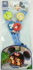 Disney Parks 2018 Trading Starter Set 4 Pin Lanyard Mickey Minnie Goofy Donald
