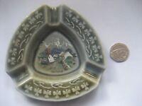 Vintage Small Triangular Wade Irish Porcelain Ashtray made in Ireland