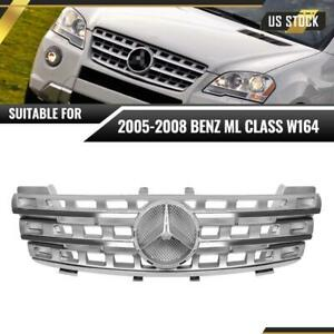 For 2005-2008 Mercedes ML Class W164 ML320 ML350 Car Front Bumper Grille Grill