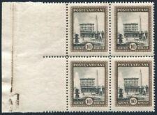 Vatican 20 block/4,margin,MNH.Mi 22. Vatican Palace and Obelisk,Fountain,1933.
