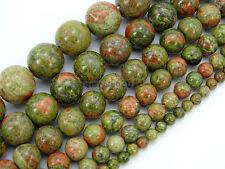 Natural Unakite Gemstone Round Loose Beads 16'' 2mm 3mm 4mm 6mm 8mm 10mm 12mm