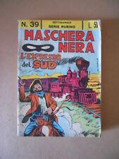 Maschera Nera n°39 1965 Serie Rubino ed. Corno [C97] BUONO