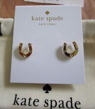 Kate Spade Dainty Sparklers Horse shoe Horseshoe Stud Earrings Clear NEW riding