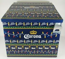 Corona Beer Feliz Navidad Holiday All Metal Cooler Ice Chest w/Opener Rare Guc